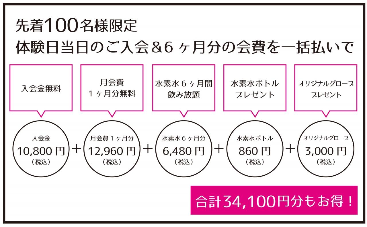 赤坂店限定入会キャンペーン