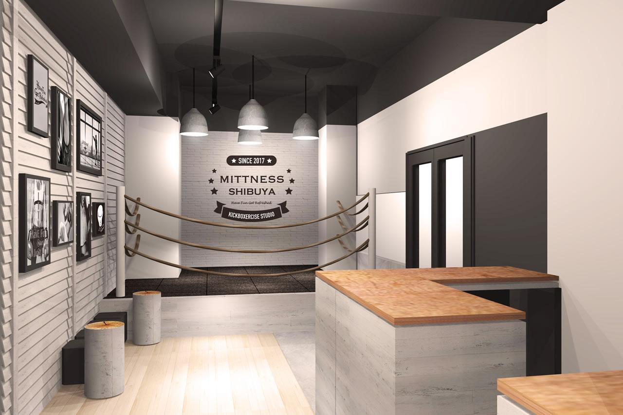 女性専用キックボクシングフィットネスジム ミットネス渋谷店エントランス