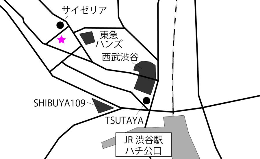 ミットネス渋谷店アクセスマップ