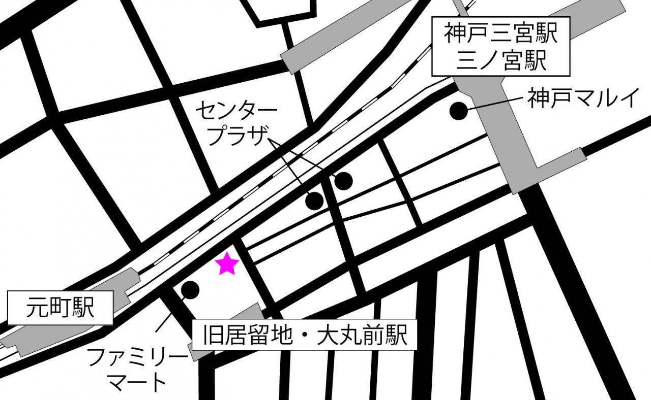 ミットネス神戸の地図