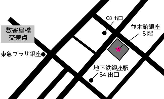 ミットネス銀座店地図